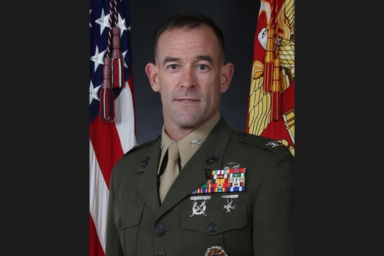 "Col. James ""J.P."" McDonough III graduated from the U.S. Naval Academy in 1994. (Marine Corps)"