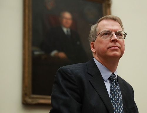 Then-Pentagon Comptroller David Norquist prepares to testify before the House Armed Services Committee on April 12, 2018. (Chip Somodevilla/Getty Images)