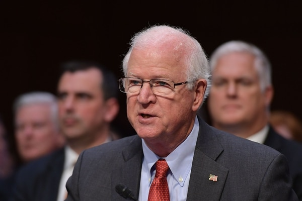 Former U.S. Senator Saxby Chambliss speaks before the Senate Intelligence Committee on Capitol Hill in Washington, DC on May 9, 2018. (Photo by MANDEL NGAN / AFP)