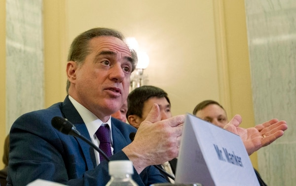 Veterans Affairs Secretary David Shulkin testifies on FY2019 and FY2020 budgets for veterans programs at the Senate Committee on Veterans Affairs on Capitol Hill, Wednesday, March 21, 2018, in Washington. (Jose Luis Magana/AP)