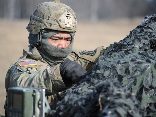 The Army is looking for research proposals to develop a radar-defeating stealth material for camouflage uniforms and other items that need cover. (Markus Rauchenberger/U.S. Army)