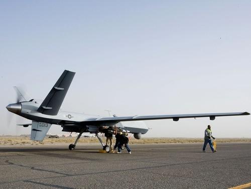 Drones like the MQ-9 Reaper (pictured) provide a valuable ISR capability when not on strike missions. However, their use in the targeted killing program has led to objections from the technology sector helping develop AI tools for parsing intel. (Capt. Michael Meridith/Air Force)