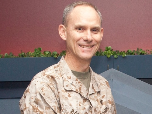 U.S. Marine Corps Brig. Gen. John G. Baker, chief defense counsel, poses for a photo during a promotion ceremony at the Pentagon on May 6, 2016. (Lance Cpl. Kayla V. Staten/Marine Corps)