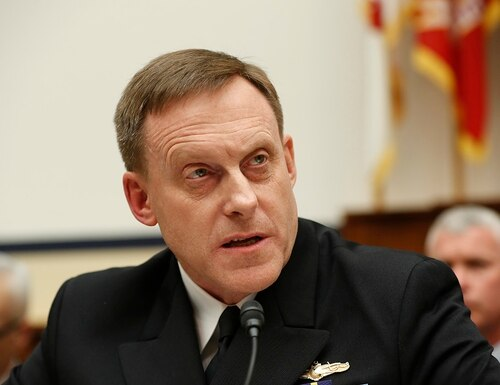 In this May 23, 2017, file photo, National Security Agency director Adm. Mike Rogers testifies on Capitol Hill in Washington. (Pablo Martinez Monsivais/AP)