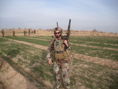 Maj. Mathew Golsteyn is shown while on a deployment. (Courtesy Rep. Duncan Hunter's office)