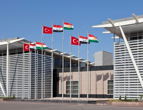 Rockets landed near Irbil International Airport (pictured) and nearby U.S. base, killing one U.S. led coalition contractor and wounding a U.S. service member and five others. (Getty Images)