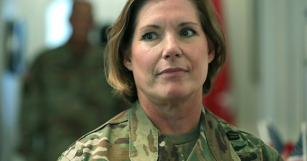 Groundbreaking female general in command of US Army North