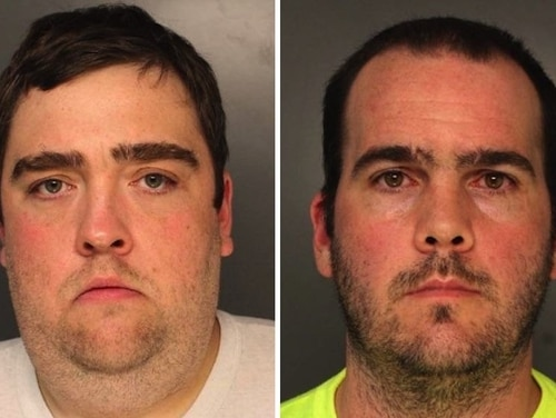 Tom Keenan (left) and Thomas Massey (right) were arrested in November for reportedly instigating an attack on two Marines. They appeared in court Dec. 13. (Philadelphia Police Department)