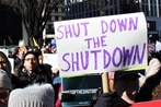 Federal employees rally for end to the government shutdown
