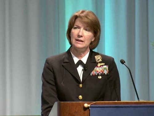 Vice Adm. Nancy A. Norton, director of the Pentagon's combat IT support agency, is retiring. (DoD)