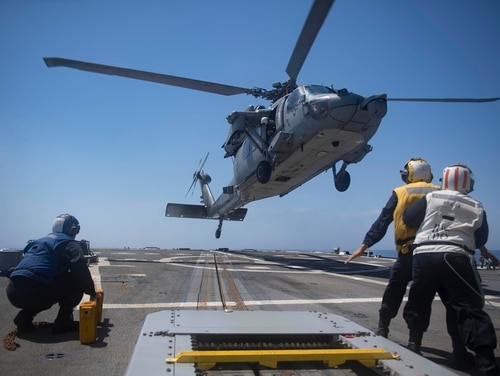 An MH-60S Seahawk, assigned to the