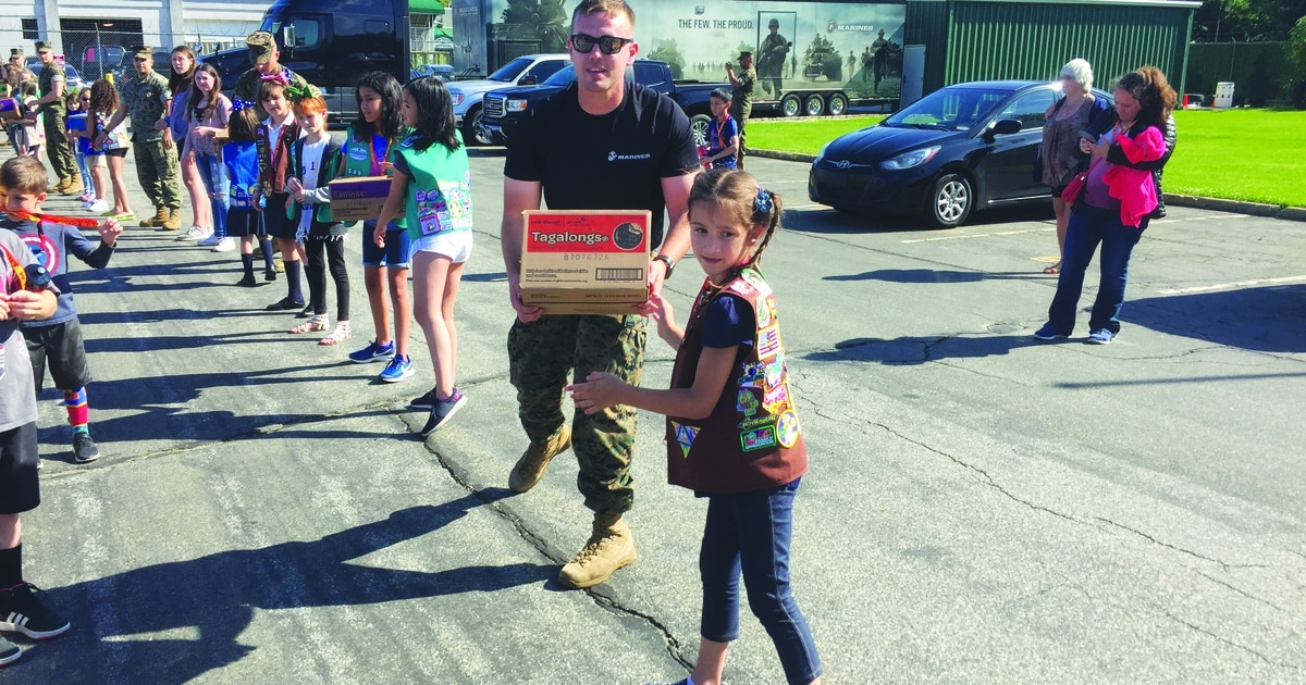 How to send Girl Scout cookies to troops overseas
