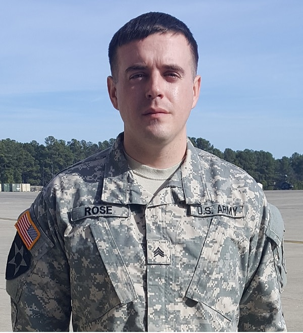 Sgt. Jeffrey Rose received the Soldier's Medal on Friday at Fort Bragg, North Carolina. (Courtesy photo)