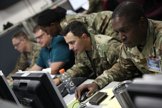 With rising threats, DoD might need to add more cyber teams to keep pace. (Photos provided by U.S. Cyber Command Public Affairs)