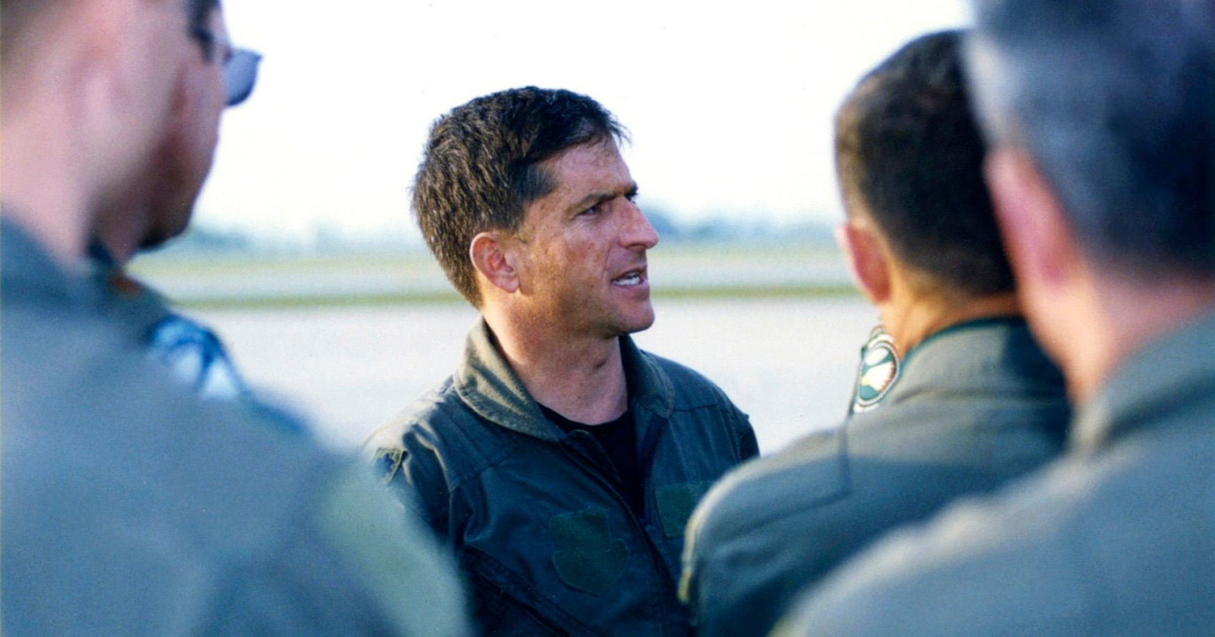 Lt. Col. Dave Goldfein arrives back at Aviano Air Base, Italy, after his harrowing shoot-down and rescue in Serbia in 1999.
