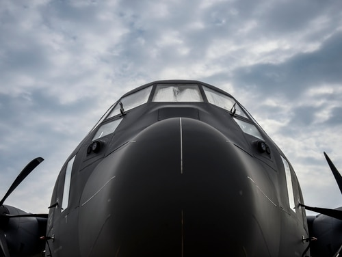 The AC-130J Ghostrider is the fourth generation gunship set to replace the special operations fleet of AC-130H/U/W gunships at Hurlburt Field, Fla., July 30, 2015. AFSOC received its first AC-130J, July 29, from Eglin Air Force Base, Fla., where it completed its initial developmental test and evaluation. (U.S. Air Force photo by Airman Kai White/Released)