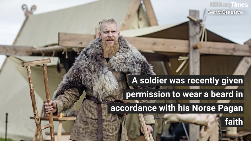 A soldier just got authorization to wear a beard because of
