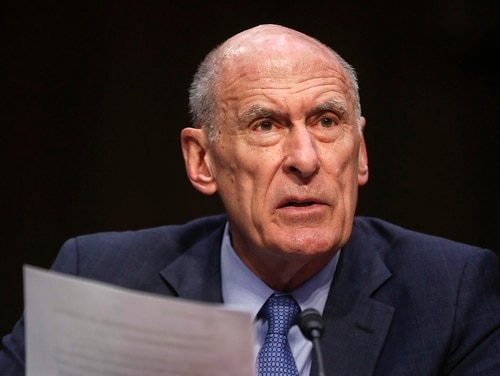 "In this March 6, 2018, file photo, Director of National Intelligence Dan Coats testifies before the Senate Armed Services Committee on Capitol Hill in Washington. Coats warned July 13, 2018, that cyber threat warnings are ""blinking red"" with daily attempts by Russia and other foreign actors trying to undermine American democracy as well as water, aviation and electric systems. (Pablo Martinez Monsivais/AP)"