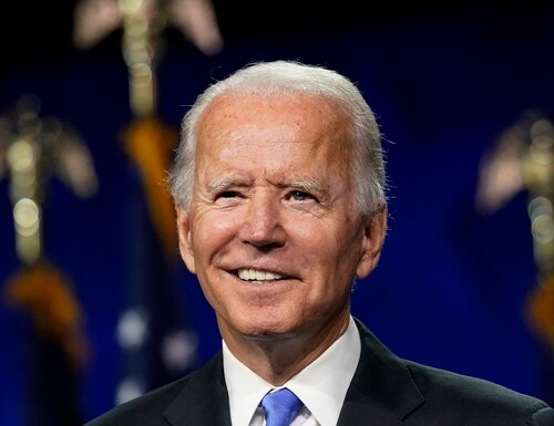 Democratic presidential candidate former Vice President Joe Biden speaks during the fourth day of the Democratic National Convention, Thursday, Aug. 20, 2020, at the Chase Center in Wilmington, Del. (Andrew Harnik/AP)