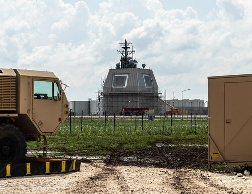 Deveselu Military Base in Romania hosts Aegis Ashore, a ballistic missile defense system operated by the United States. Japan has canceled plans to incorporate the system into its defense architecture. (NATO)