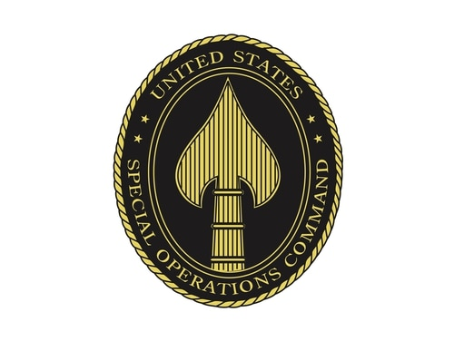 The U.S. Special Operations Command insignia (Wikimedia Commons).