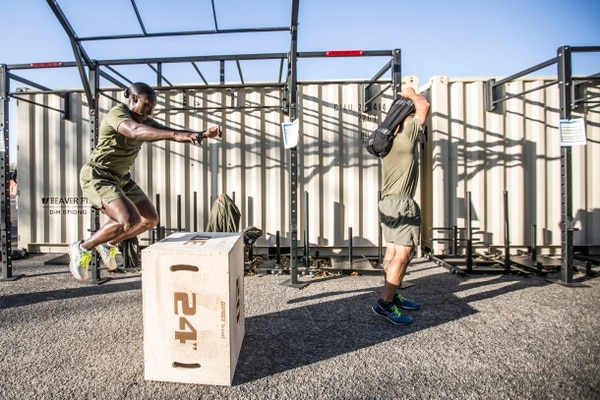 U.S. Marines attend the first Force Fitness Instructor Course aboard Marine Corps Base Quantico, VA., Oct. 24, 2016. The course is designed to produce Fitness Instructors to return to the fleet and maintain health and wellness while improving human performance. (U.S. Marine Corps photo by Sgt. Melissa Marnell)