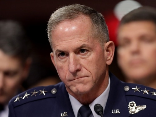 Air Force Chief of Staff Gen. David Goldfein testifies before the Senate Armed Services on Capitol Hill December 03, 2019 in Washington, DC. In a June 1 memo, Goldfein denounced the death of George Floyd as a