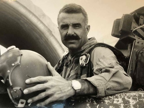Hank Buttelmann in his F-100 Super Sabre in 1969, while serving in the Vietnam War. Buttelmann, the youngest ace in the Korean War with seven confirmed kills, died in September at age 90. (Courtesy of Kent Buttelmann)