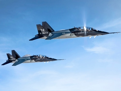 Boeing-Saab's T-X trainer design won the U.S. Air Force's T-X competition in September 2018. (John Parker/Boeing)