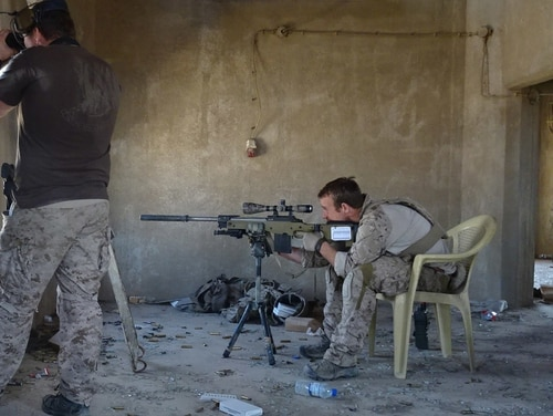 "Special Warfare Operator Chief Edward ""Eddie"" Gallagher in a sniping position in Iraq. (Photo provided)"