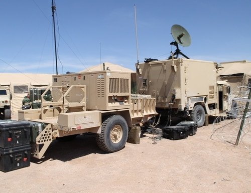 WIN-T Tactical Communications Node-Lite (TCN-L) and Network Operations Security Center-Lite (NOSC-L) are now being fielded to light infantry units after a successful operational test at the Network Integration Evaluation at Fort Bliss, Texas, in July 2017. (Photo by Jen Judson/Defense News Staff)