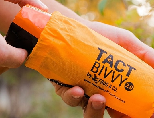 The Tact Bivvy 2.0 is a lightweight reusable bivy sack that can act as a liner for a traditional sleeping bag or be utilized on its own. Whether your night outside is planned or unplanned, this product will make sure you stay warm and dry.