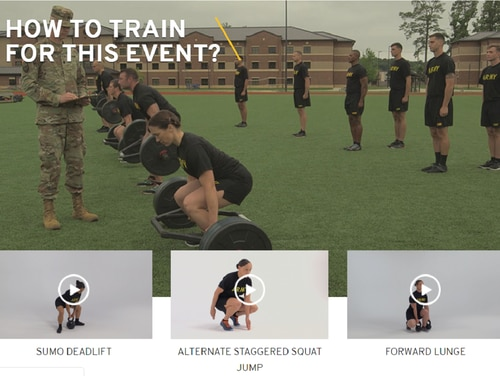 Soldiers with questions about the new Army Combat Fitness Test can click over to army.mil/acft. (Army)