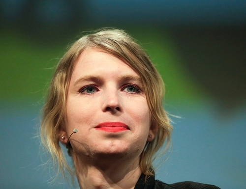 In this May 2, 2018, file photo, Chelsea Manning attends a discussion at the media convention