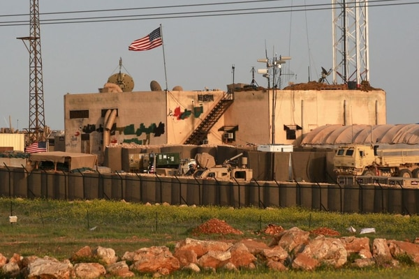 A US military base in the al-Asaliyah village, between the city of Aleppo and the northern town of Manbij, is seen April 2, 2018. (Delil Souleiman/AFP via Getty Images)