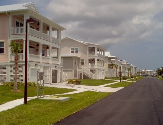 Privatized housing at Trumbo Point, an annex of Naval Air Station Key West. (Photo by Chris Carson)