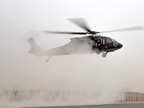 Over the decades, helicopter pilots have improved their craft with advances in night vision, helmet-connected targeting systems. But one pesky item continues to blind the best pilots – dust. (Sgt. Tracy McKithern/Army)