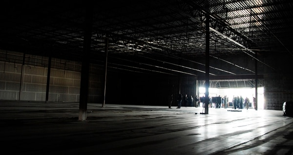 Community leaders from middle Georgia tour the site of the future Air Force Advanced Technology and Training Center in Warner Robins, Ga., on Dec. 14, 2017. (Jonathan Bell/Air Force)