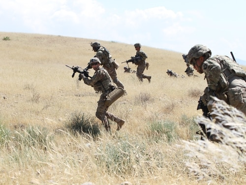 A goal, according to both Mattis and Dunford, us to force the Taliban to the table by convincing them that there is no way the group can militarily defeat American-backed Afghan forces. (Capt. Charlie Emmons/U.S. Army)