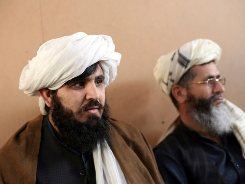 In this Dec. 14, 2019, file photo, jailed Taliban are seen after an interview with The Associated Press inside the Pul-e-Charkhi jail in Kabul, Afghanistan. (Rahmat Gul/AP)