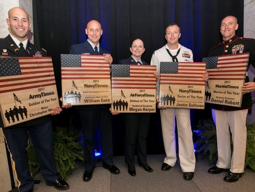 Last year's winners of the Military Times Service Members of the Year Awards (Staff photo)