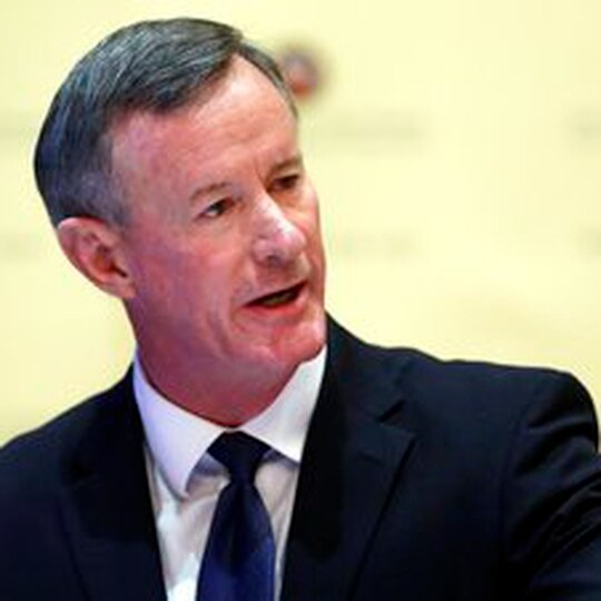Retired Navy SEAL admiral znd former chancellor of the University of Texas system delivered an online address to MIT's graduating class on Friday, May 29, 2020. (AP Photo/Eric Gay, File)