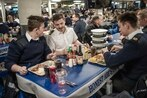 Carrier Lincoln hosts the Royal Navy's Queen Elizabeth crew for Thanksgiving