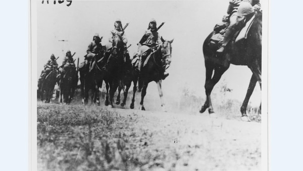 Japanese mounted unit, circa 1937, in Shanghai. Japan invaded China on July 7, 1937 and carried out counter-guerrilla operations until Sept. 2, 1945. (Courtesy of Rear Adm. J.P. Walker, U.S. Naval History and Heritage Command)
