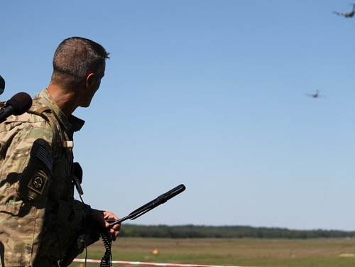 The 82nd Airborne jumped into farmland just outside of Torun, Poland, the birthplace of famed astronomer Nicolaus Copernicus, during Operation Swift Response in June 2016. Turon is listed in Poland's proposal as a possible location for housing part of a permanent U.S. base in the country. (Photo by Jen Judson/Defense News staff)