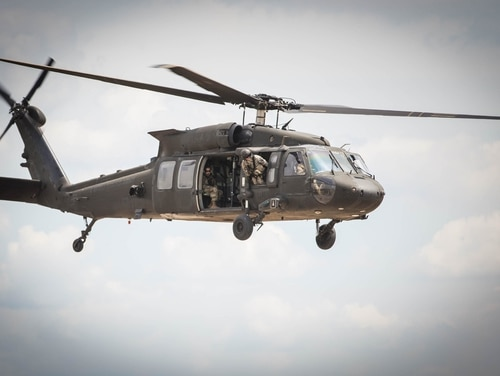 The Pentagon on Aug. 30, 2017, released the name of a soldier missing since the Black Hawk he was on crashed off the coast of Yemen on Aug. 25. (Capt. Adan Cazarez/Army)
