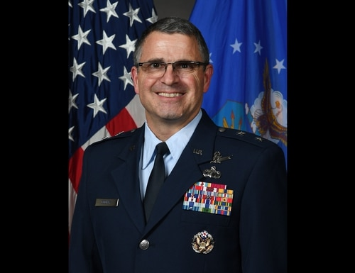 Maj. Gen. William Cooley is under investigation by the Office of Special Investigations for alleged misconduct and was fired from command of the Air Force Research Laboratory on Jan. 15. (Air Force)