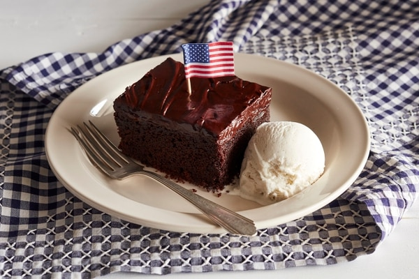 This Double Chocolate Fudge Coca-Cola Cake is a freebie option at Cracker Barrel on Nov. 11. (Courtesy Cracker Barrel)