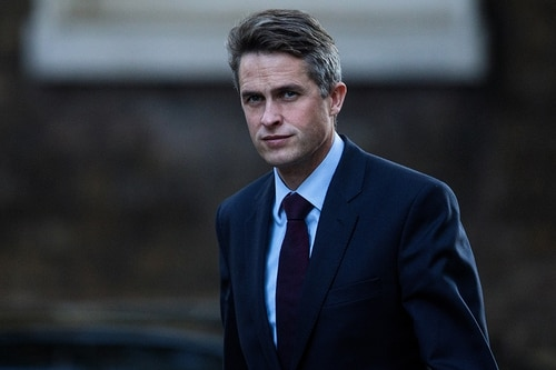 British Defence Secretary Gavin Williamson arrives for a cabinet meeting at 10 Downing Street on July 10, 2018, in London. (Dan Kitwood/Getty Images)