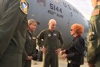 'Rosie the Riveter' shares experiences on C-17 flying classroom
